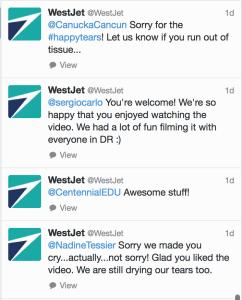 WestJet Twitter Engagement