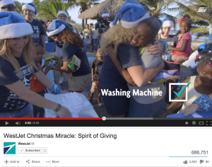 West Jet Spirit of Giving Viral Video
